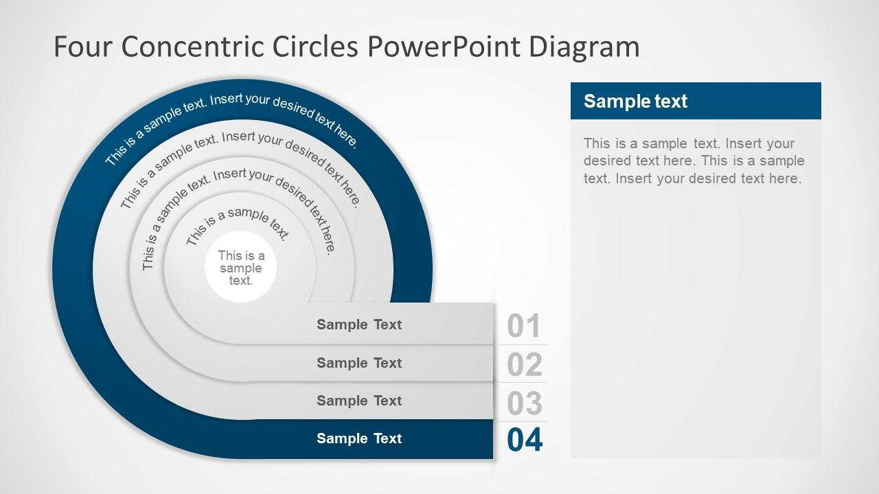 Flat Infographic Four Circles Segments