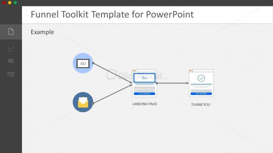 PowerPoint Horizontal Process Flow Diagram
