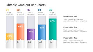 Editable Gradient Bar Chart for PowerPoint