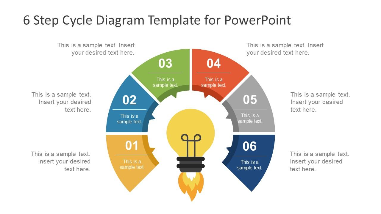 6 step cycle diagram powerpoint template slidemodel. Black Bedroom Furniture Sets. Home Design Ideas