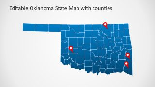 Oklahoma State and Counties PowerPoint Map