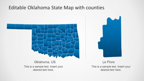 Template of Map for Oklahoma