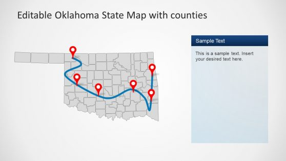 Roadmap PowerPoint Template Oklahoma