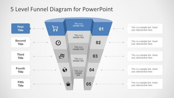 Broad Level Funnel 3D PPT