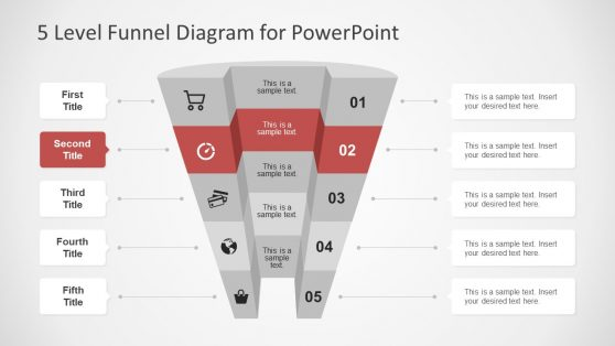 Diagram PowerPoint of 3D Funnel