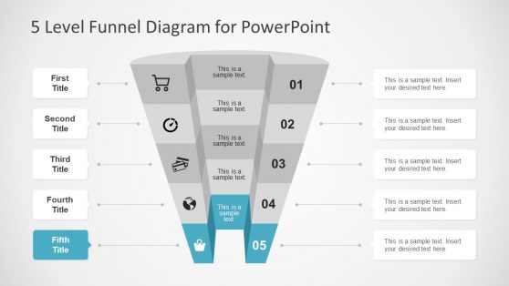 PPT 3D Funnel Diagram