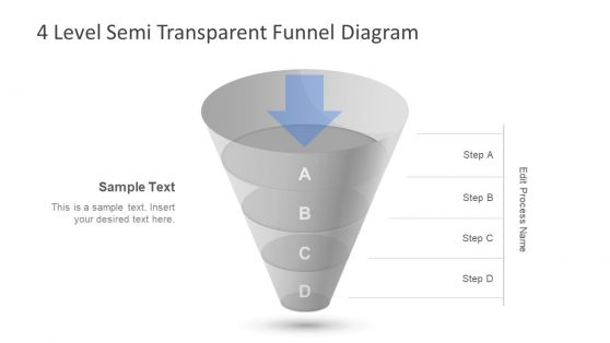 Funnel PowerPoint Diagram 4 Level
