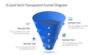 Blue Template of Funnel Diagram