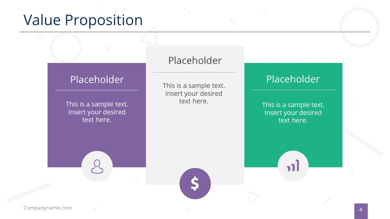 3 Sections of Value Propositions