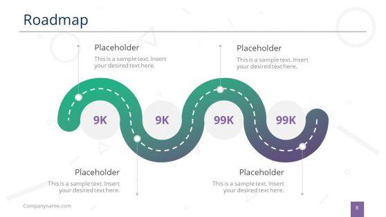 Roadmap PowerPoint Zigzag Design