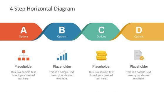 Horizontal Timeline layout Slide