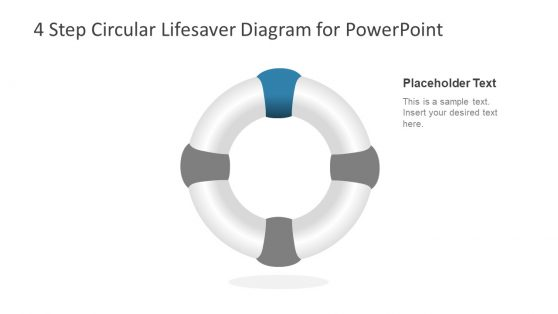 Lifesaver Diagram Template 4 Step