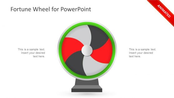Animated Fortune Wheel Spinning PPT