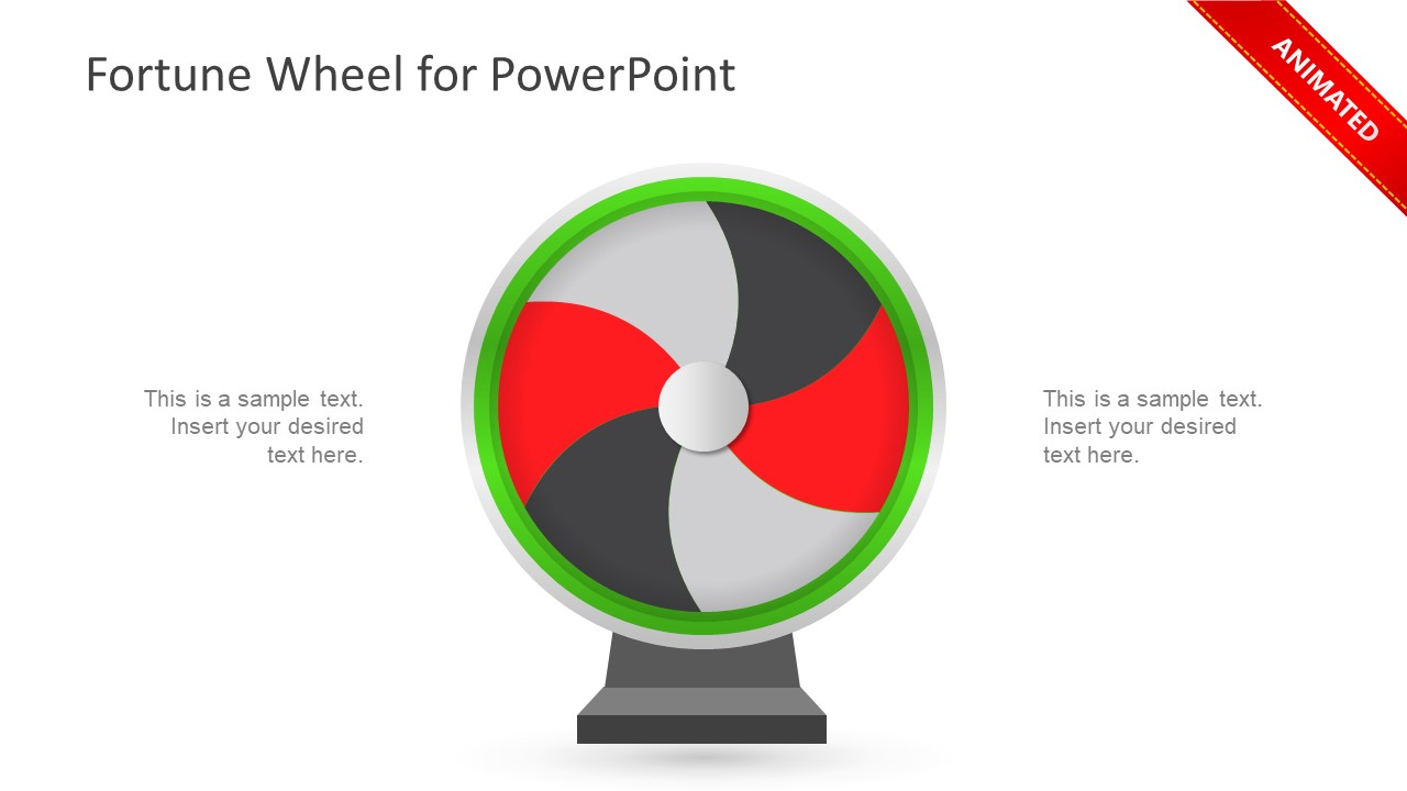 fortune wheel powerpoint template slidemodel