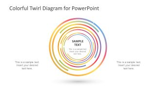 Colorful Twirl Diagram for PowerPoint