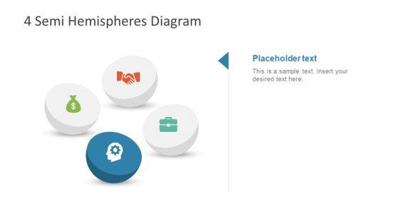 PPT 4 Steps Diagram Hemisphere