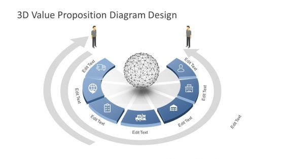 3D Diagram Template Marketing Strategy