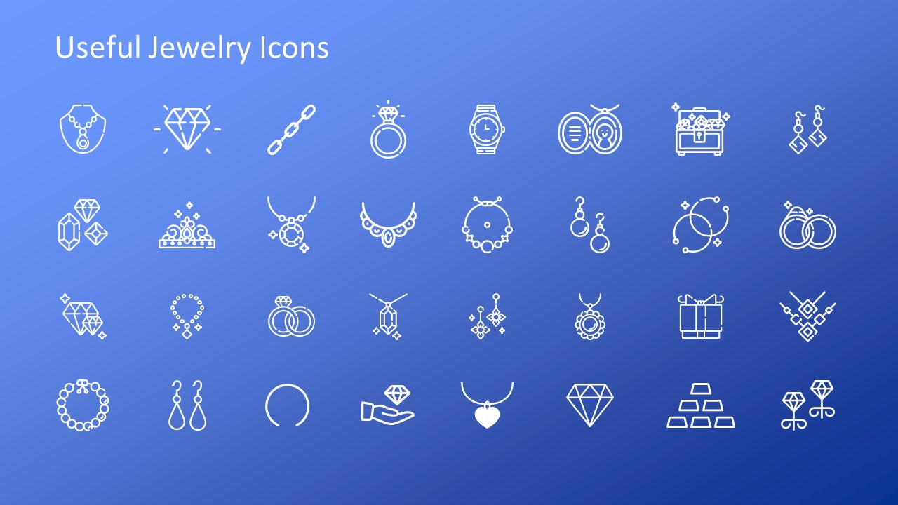 Template of Clip Art Icons Jewelry Business