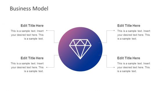 4 Step PowerPoint Diamond Diagram