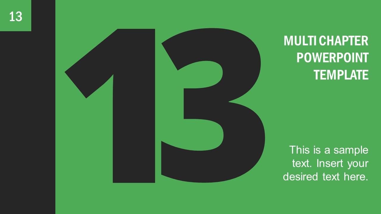 Number 13 Presentation Divider Template