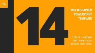 Number 14 Presentation Divider Template