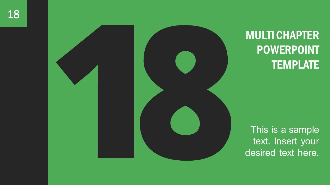 Number 18 Presentation Divider Template