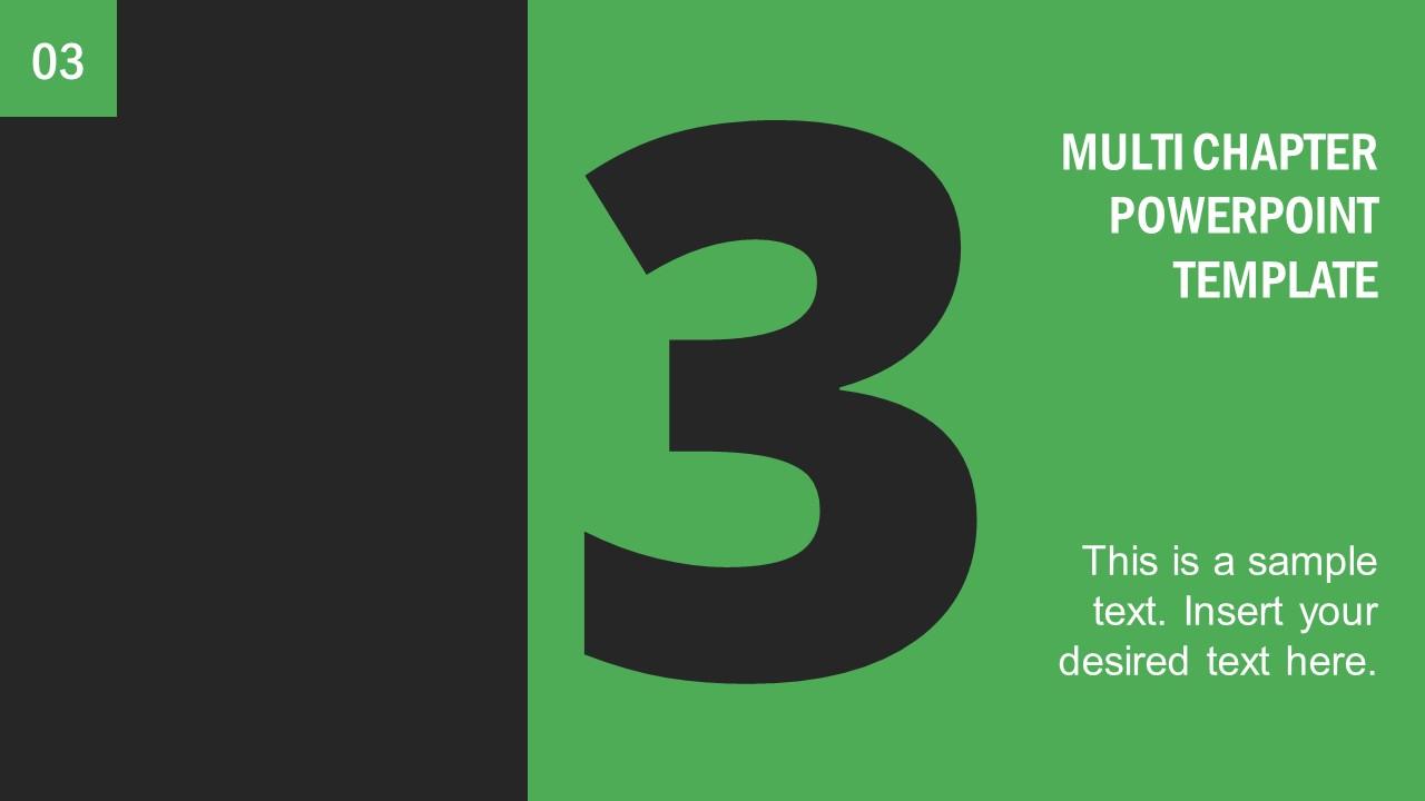 Number 3 Presentation Divider Template