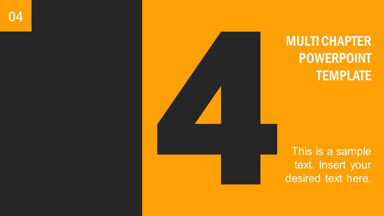 Number 4 Presentation Divider Template