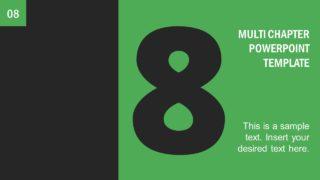 Number 8 Presentation Divider Template