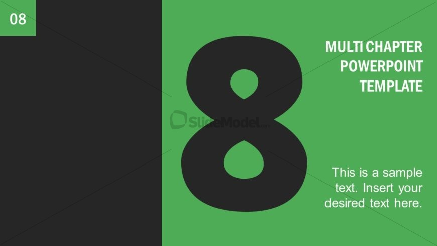 Number 8 Presentation Divider Template