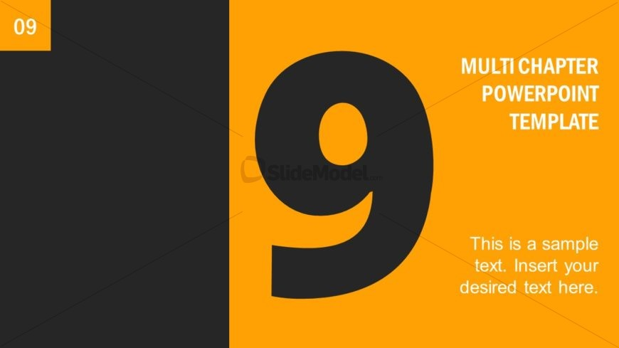 Number 9 Presentation Divider Template