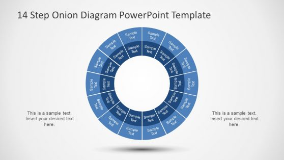 PowerPoint Circular Diagram of 14 Steps