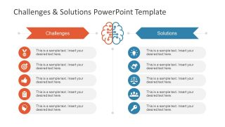 Challenges & Solution PowerPoint Template