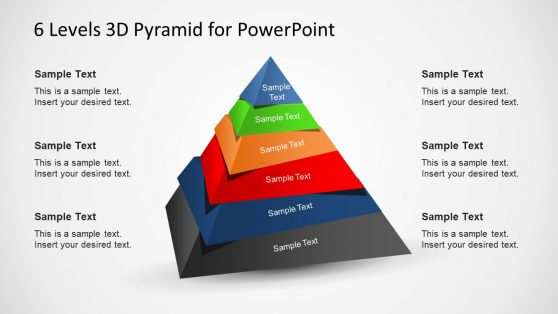 3D Pyramid Stacked Diagram Slide