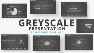 Grayscale Business PowerPoint Template