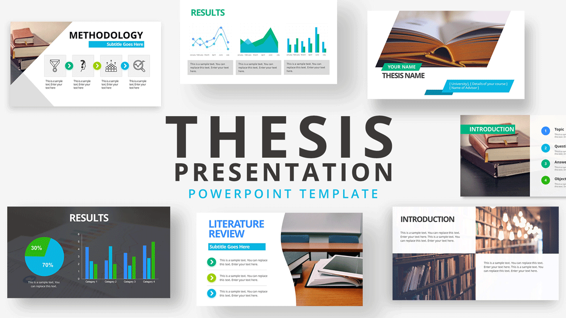 Thesis Presentation PowerPoint Template - SlideModel