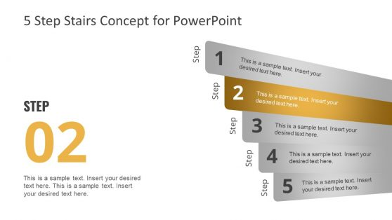 PowerPoint Timeline 5 Steps