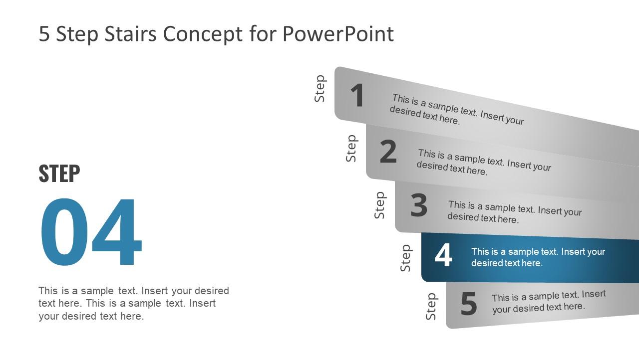 4 Steps PowerPoint Concept Design