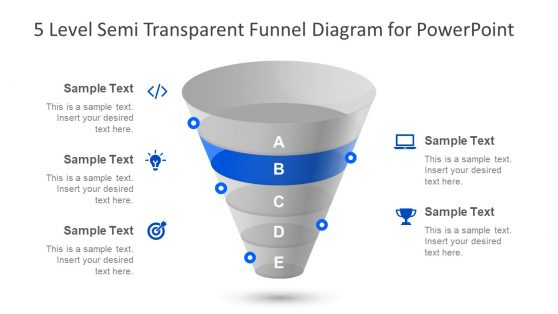 5 Level Funnel Chart PowerPoint