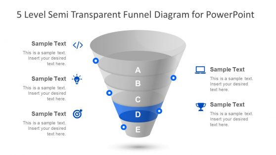 Funnel Diagram for PowerPoint Layout