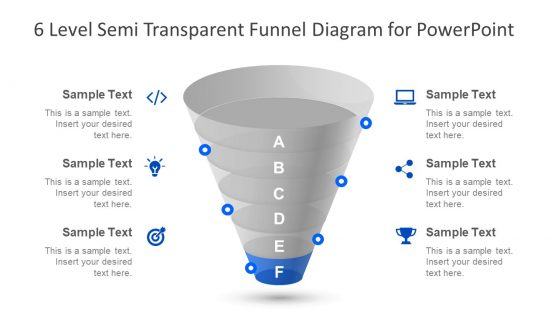 Semi Transparent Template of Funnel