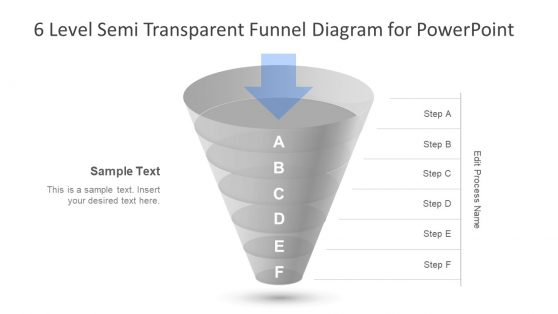 Funnel Diagram PowerPoint 6 Level