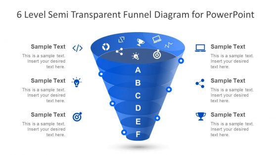 PPT Semi Transparent Funnel Overview