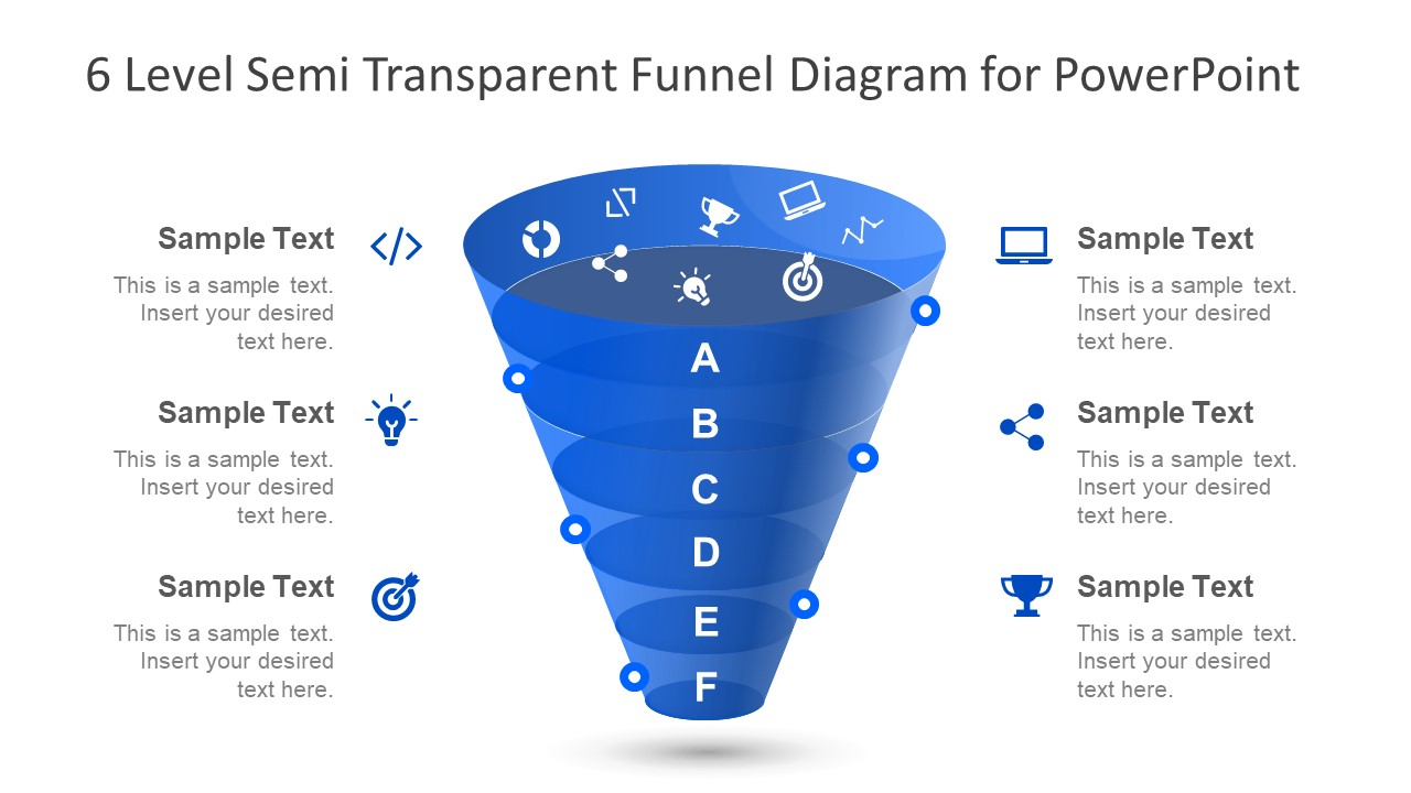 Diagram of Marketing Funnel in PowerPoint