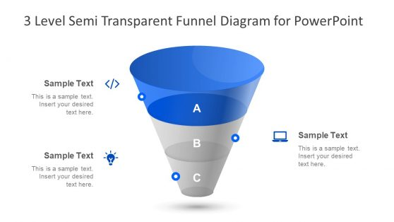 Semi transparent Diagram Funnel