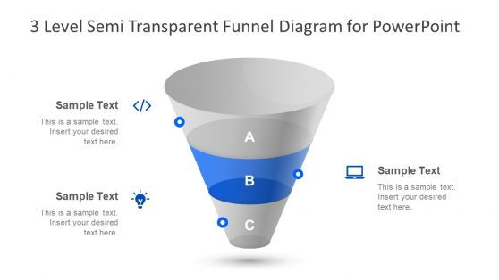 Funnel Chart 3 Step Presentation