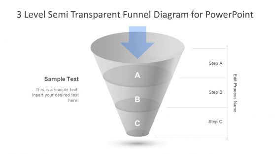 PowerPoint Semi Transparent Funnel
