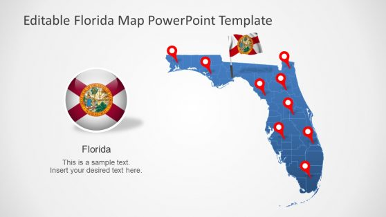 Flag of Florida in Map Slide
