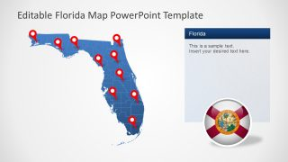 Editable Map Template of Florida