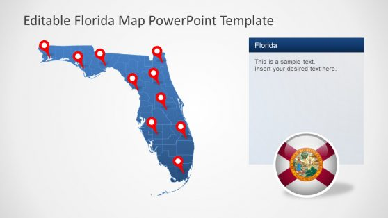 PowerPoint Florida Map Template